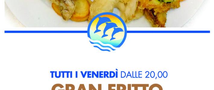 (Italiano) TUTTI I VENERDI' CENA GRAN FRITTO DI MARE E PARANZA