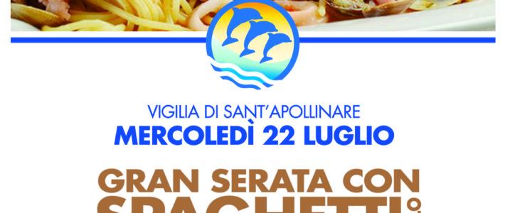 (Italiano) MERCOLEDI 23 LUGLIO SPAGHETTI ALLO SCOGLIO